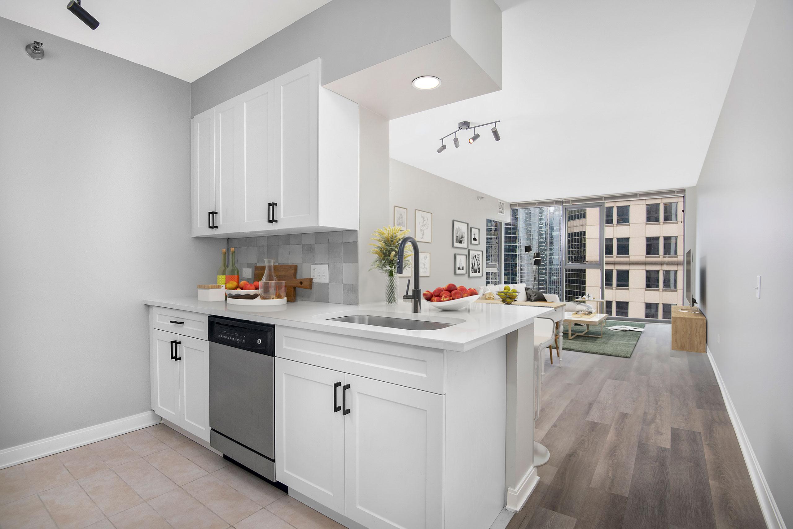 Floor Plans Kitchen to Living