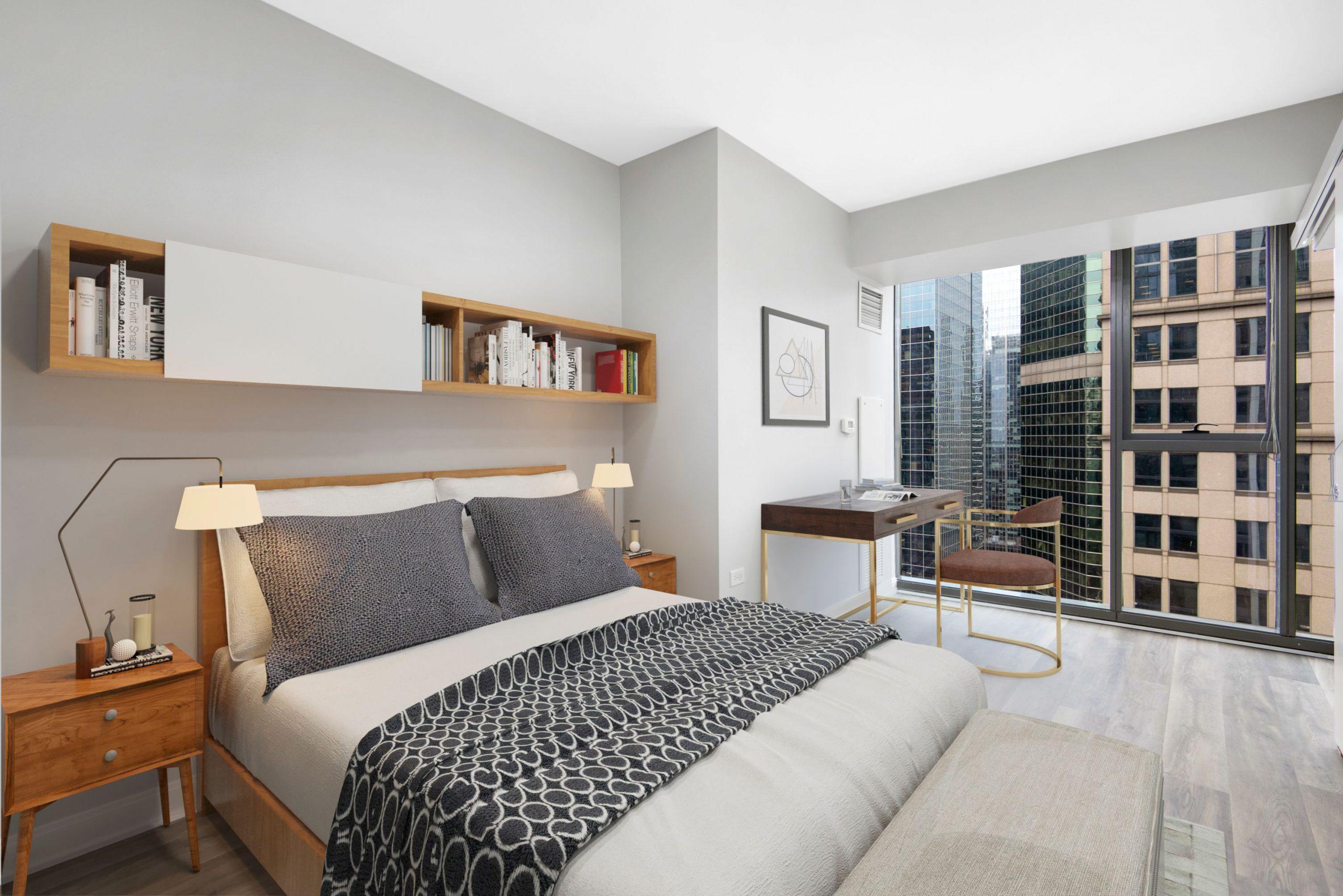 Lake & Wells Apartment Bedroom